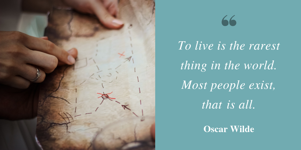 To live is the rarest thing - oscar wilde quote